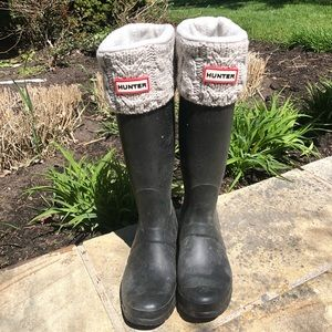 Hunter Wellies Boot Socks EUC